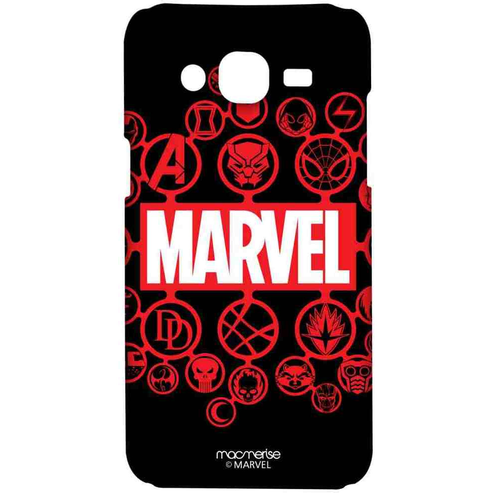 Marvel Iconic Symbols Black - Sublime Case for Samsung On7