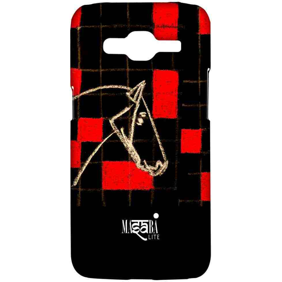 Masaba Red Checkered Horse - Sublime Case for Samsung J2 Prime