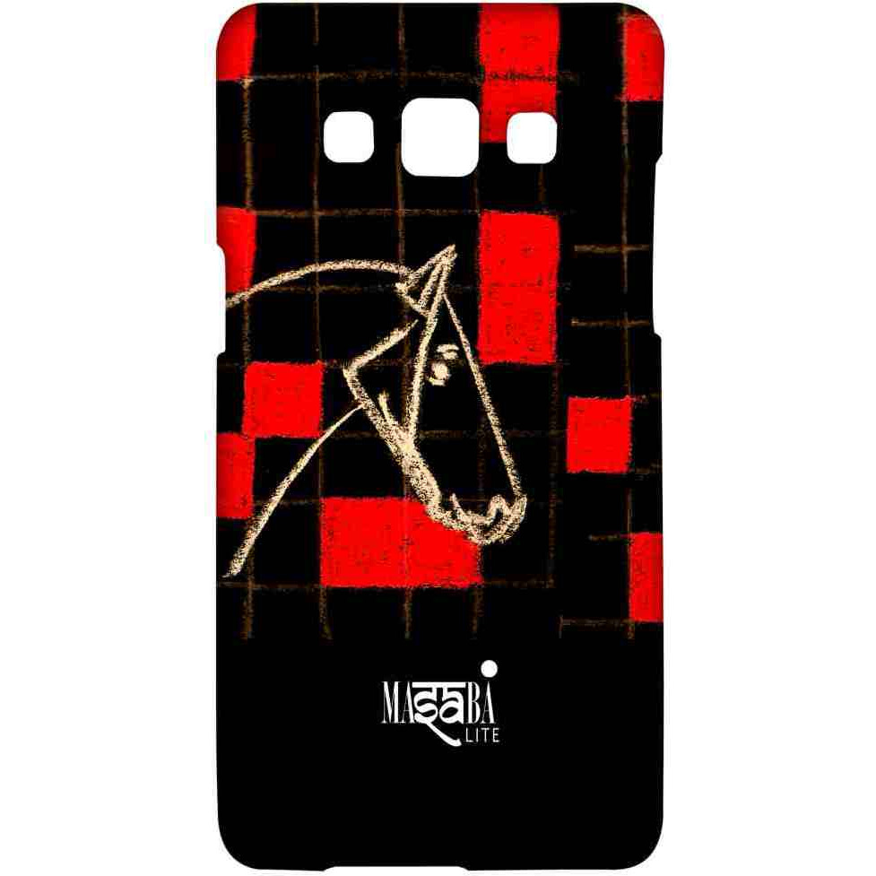 Masaba Red Checkered Horse - Sublime Case for Samsung A7
