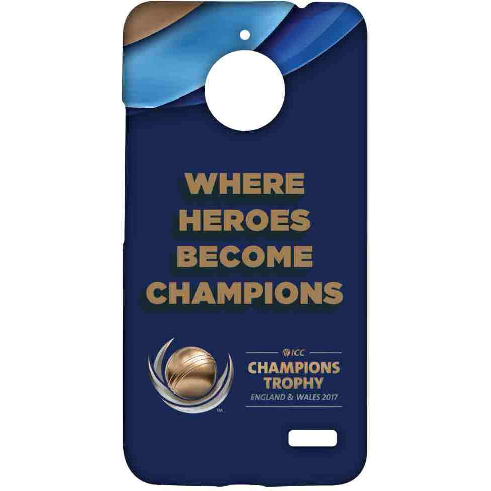 Where Heroes Become champions - Sublime Case for Moto E4