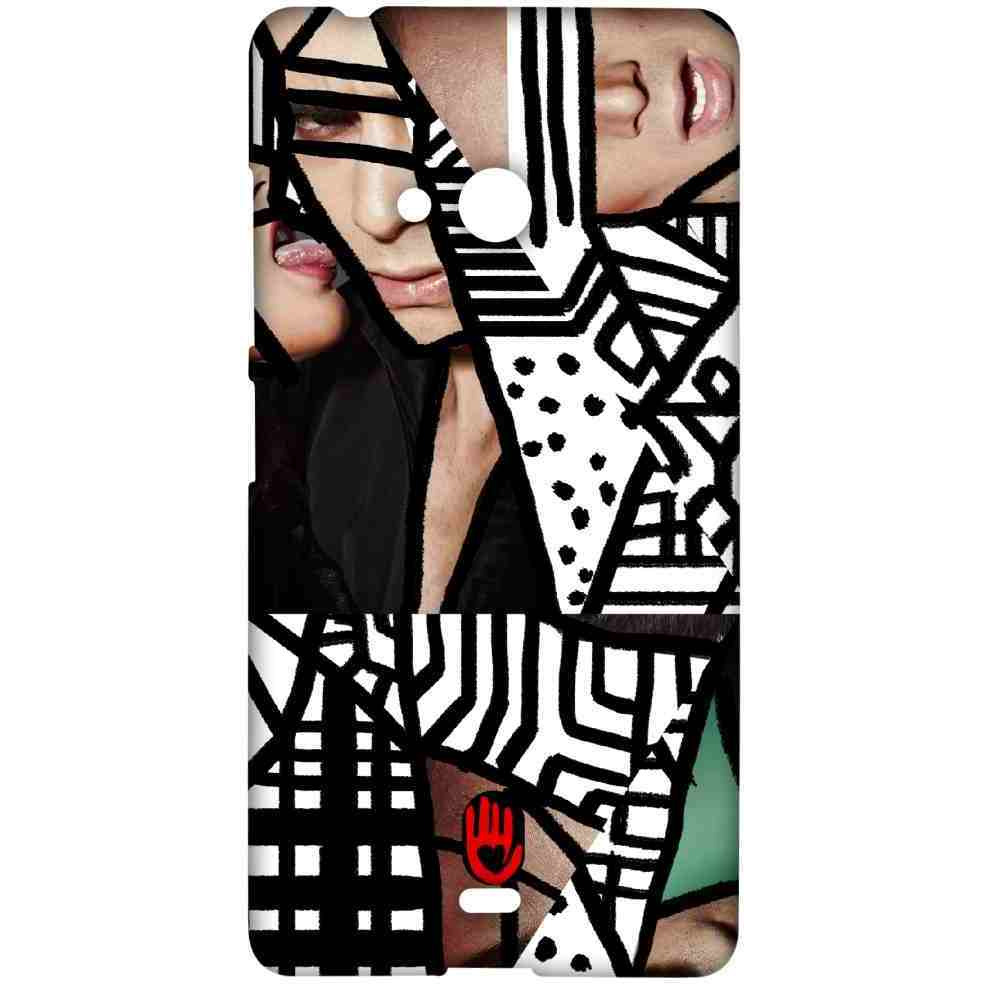 KR Black Abstract - Sublime Case for Microsoft Lumia 540