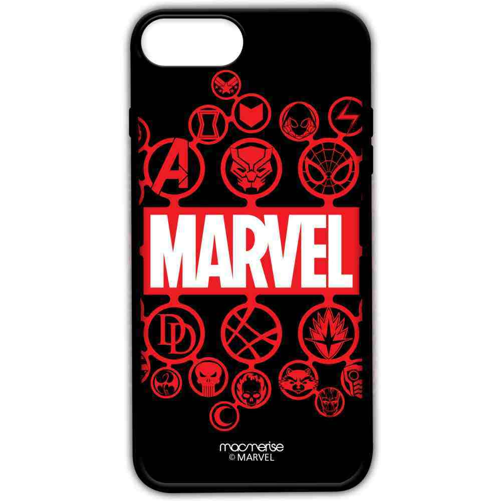 Marvel Iconic Symbols Black - Lite Case for iPhone 7 Plus