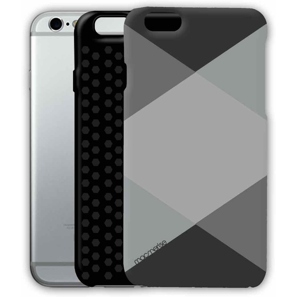 Criss Cross Grey - Tough Case for iPhone 6S Plus