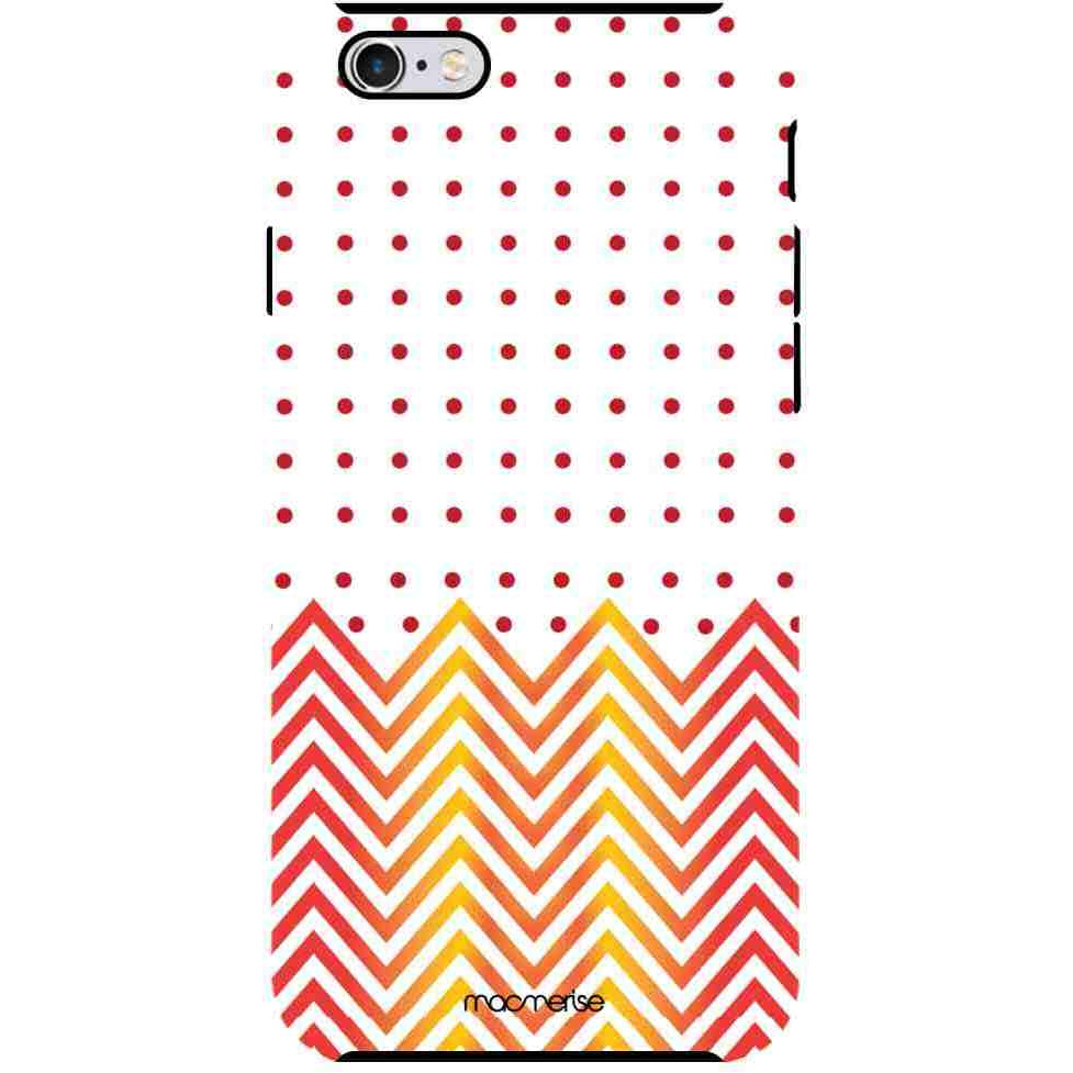 Polka Cheveron - Tough Case for iPhone 6S Plus