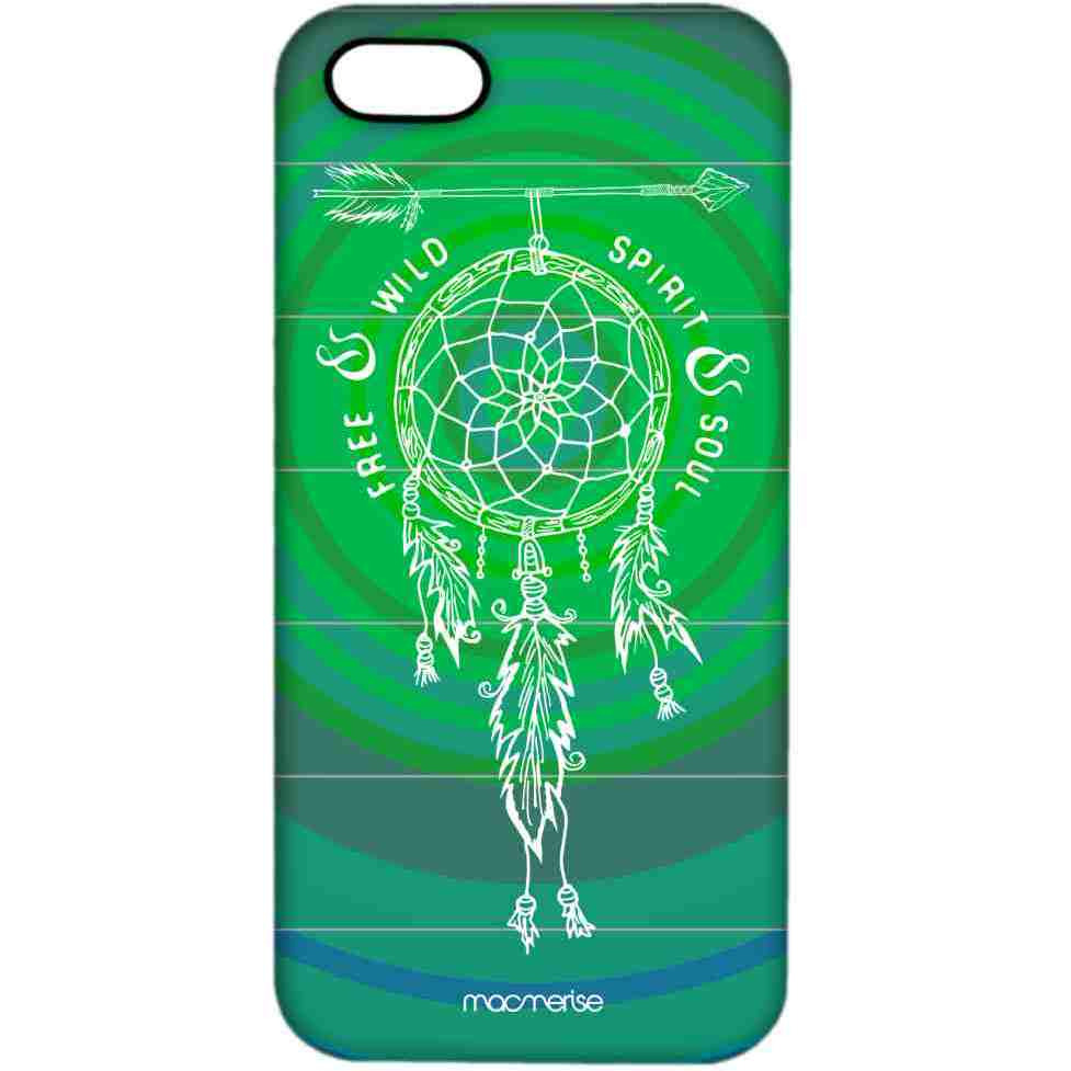 Free Spirit Green Teal - Pro Case for iPhone 5/5S