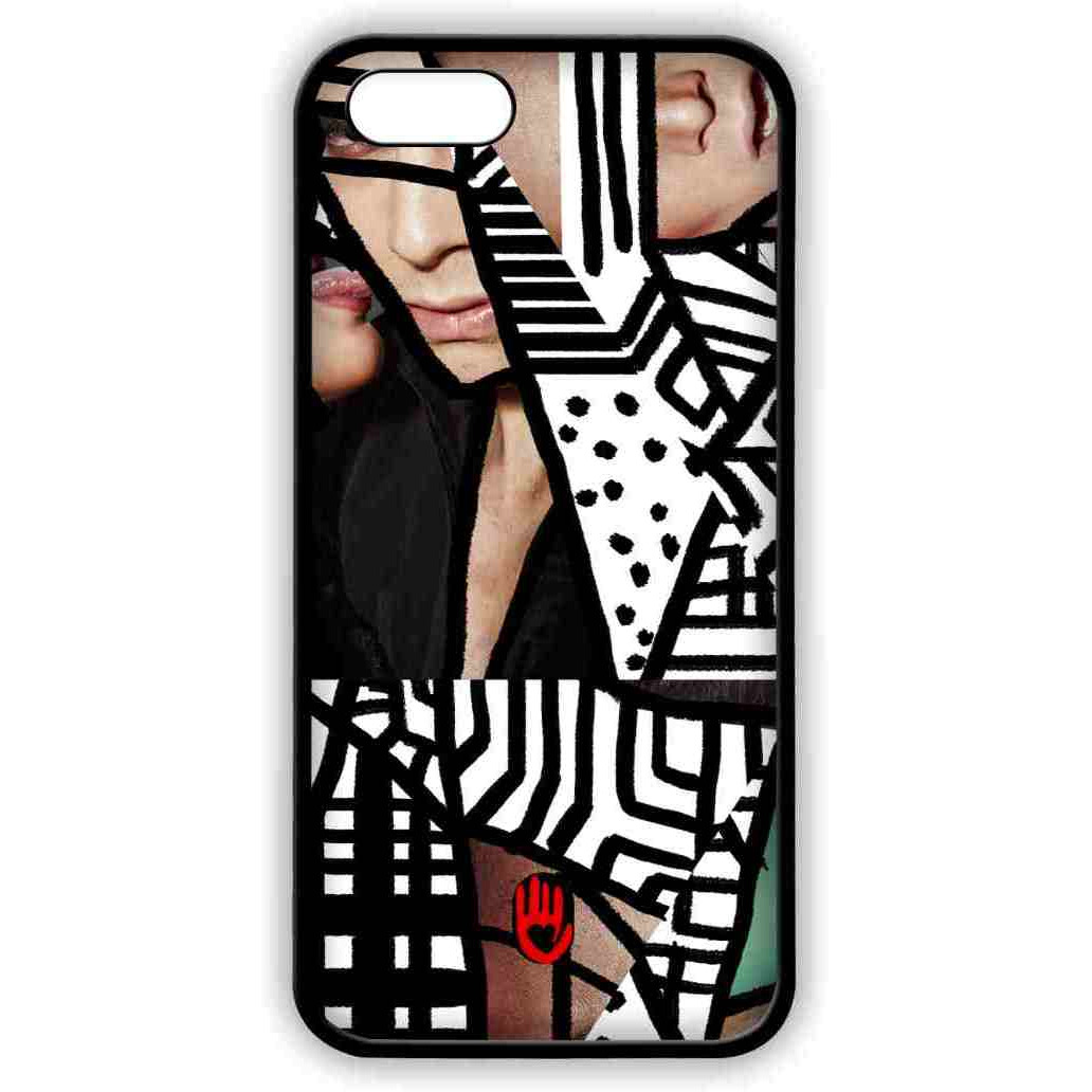 KR Black Abstract - Lite Case for iPhone 5/5S