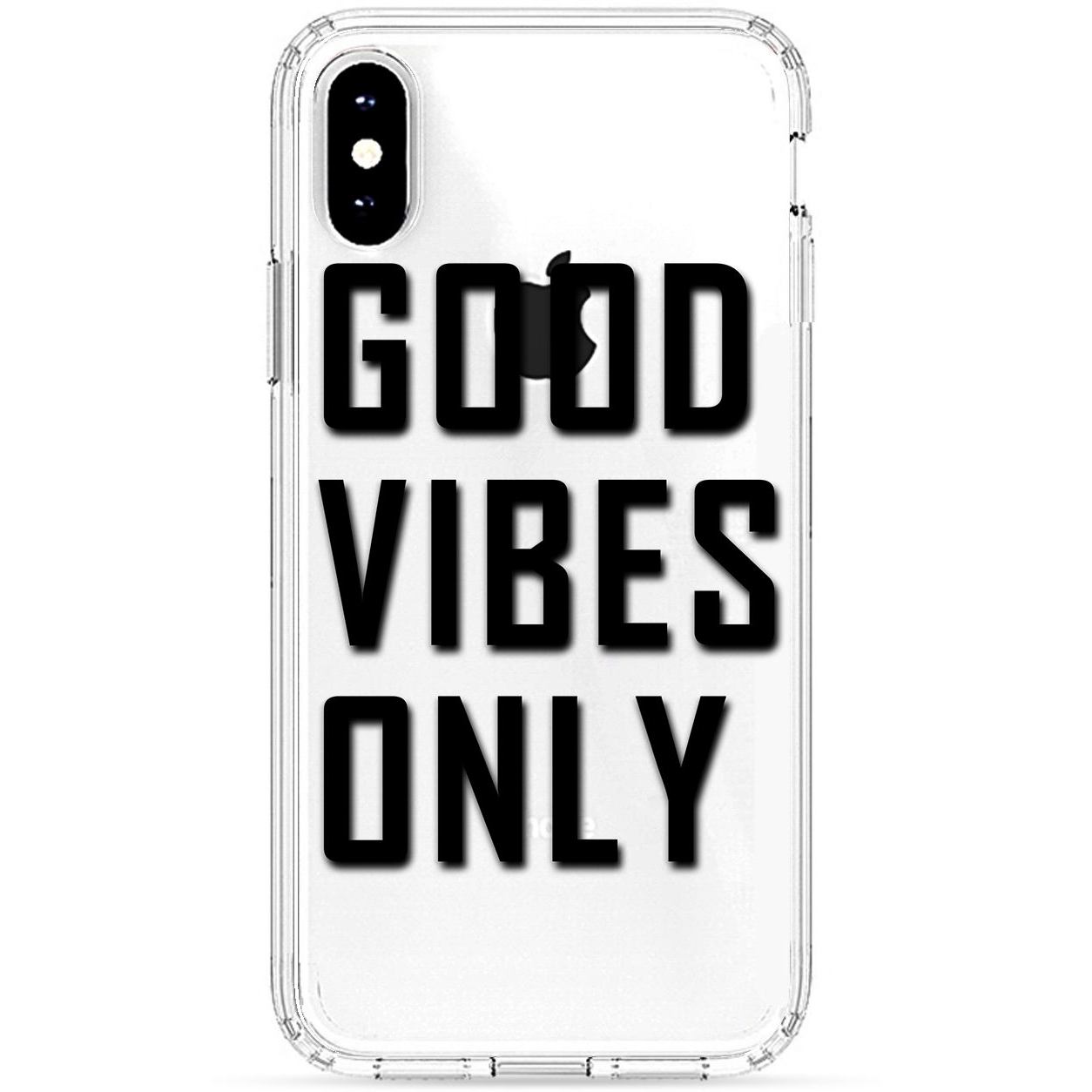 Good Vibes Only Apple iPhone X Case(Multi Color)