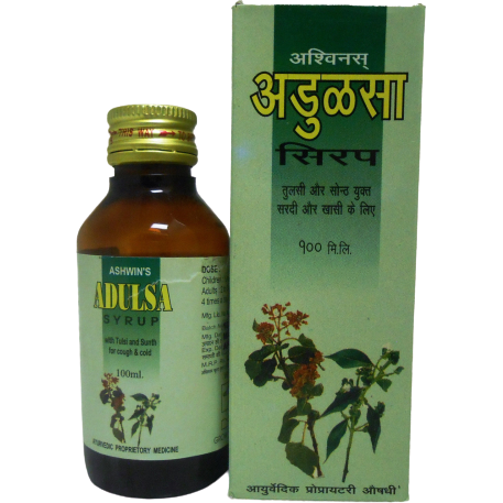 Ashwins Adulsa Syrup With Tulsi Sunth For Cough & Cold