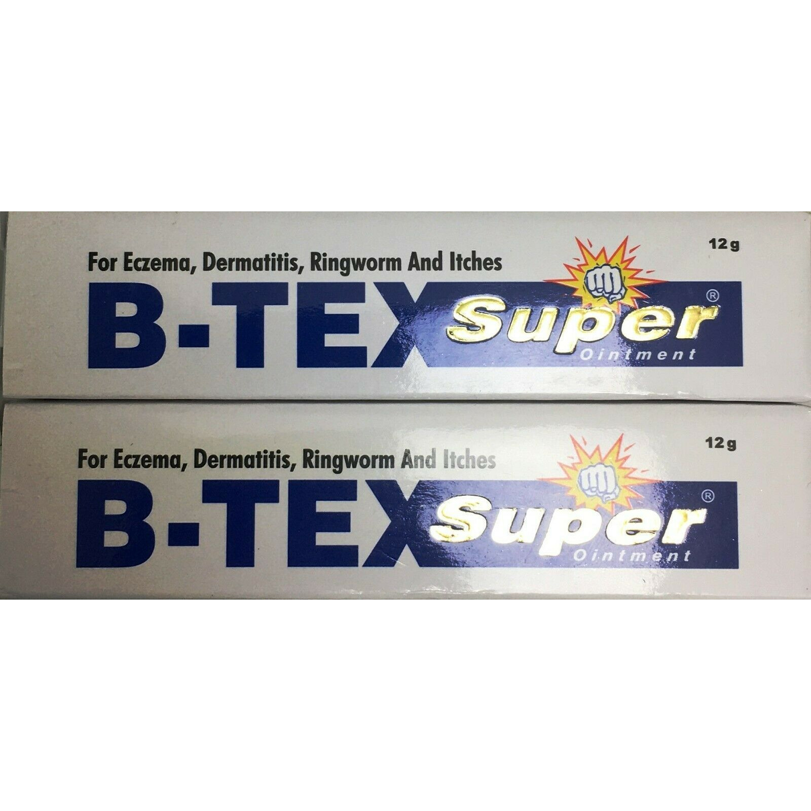 B-Tex Super Ointment For Eczema, Dermatitis, etc (2 Pack) - 12 Gm Each