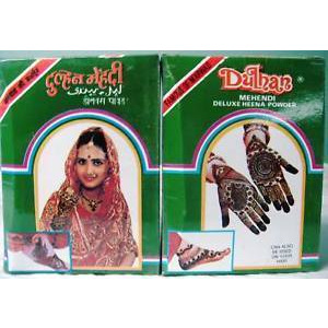 2 Pack Dulhan Deluxe Henna Mehandi Tattoo Powder - 100 Gm