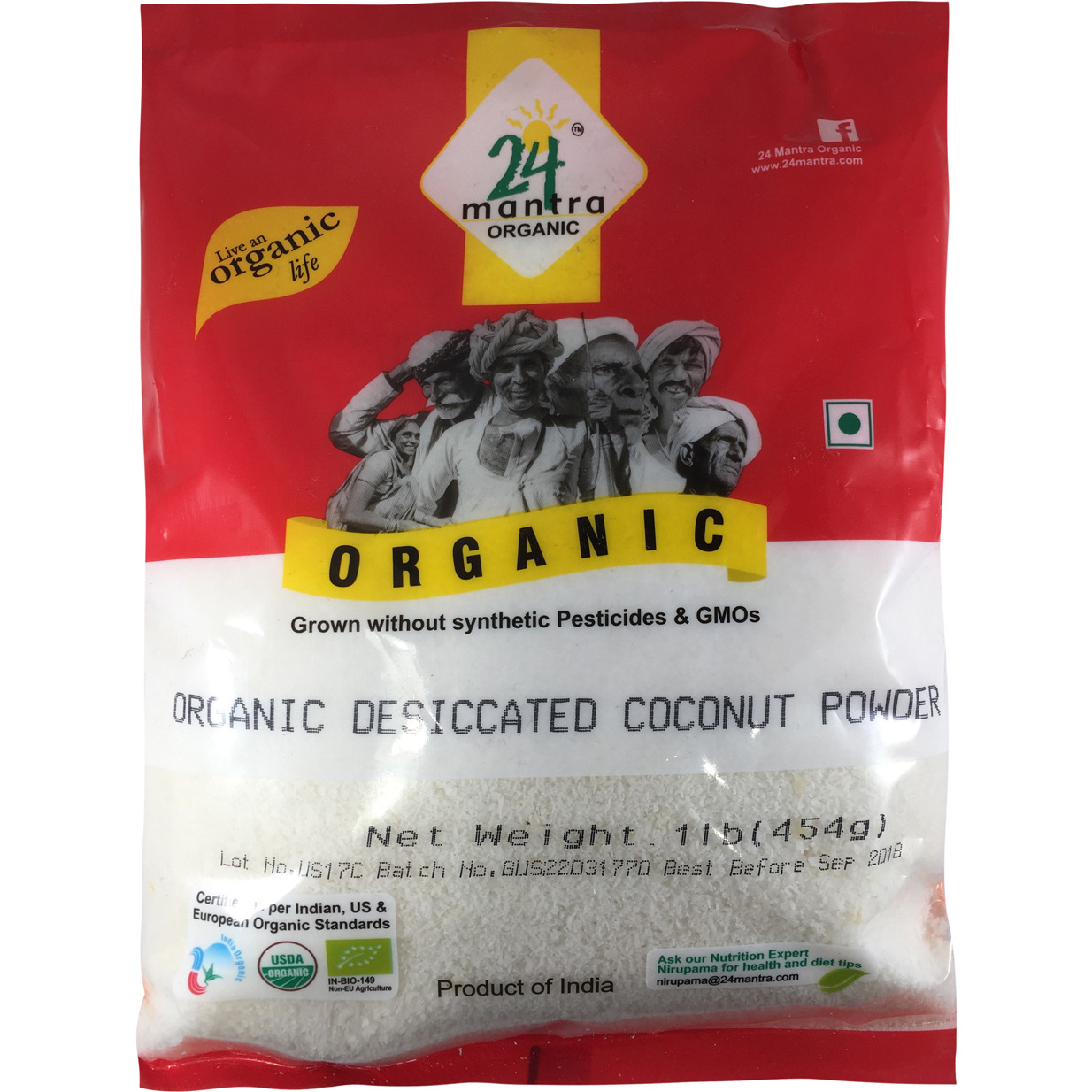24 mantra Organic Coconut Powder 1 lb