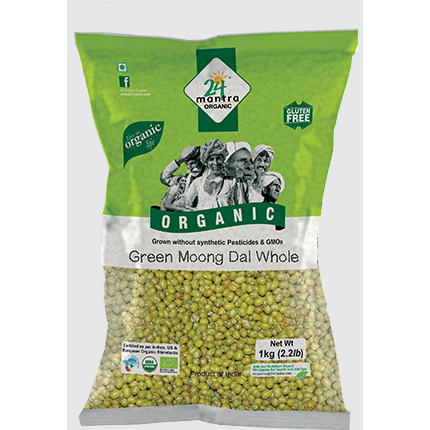 24 mantra Organic Green Moong whole 4 lb