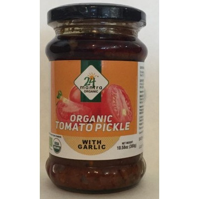24 mantra Organic Tomato Pickle With Garlic 300 gm
