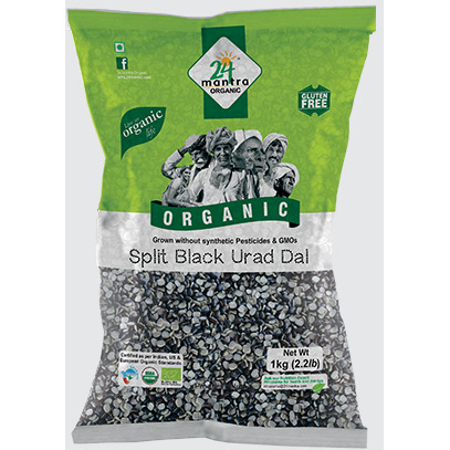 24 mantra Organic Urad Dal Split With Skin 4 lb