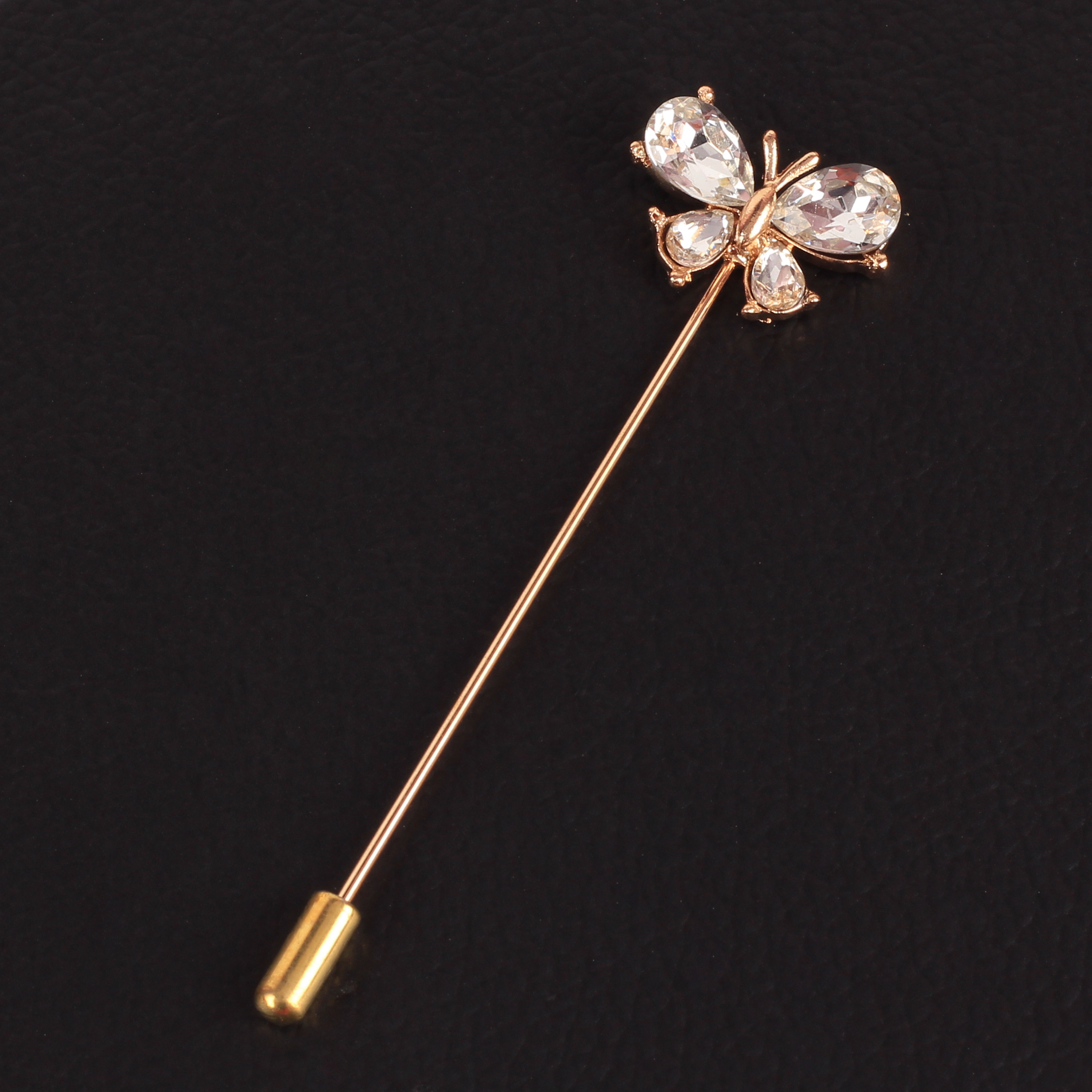 Panjatan Cute Butterfly with Pearls Studded Lapel Pin Brooch