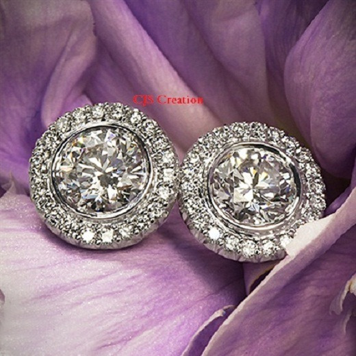 d5e7cb6fb1998 2.0CT Off White Real Moissanite Stud Earrings 925 Sterling Silver Solitaire