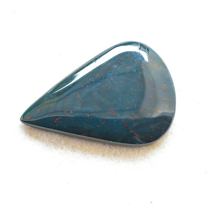 Buy Natural Blood Stone Semi Precious Loose GemstonePear shape Cabuchions