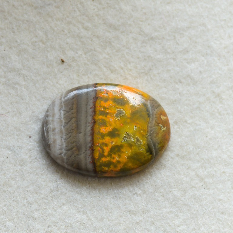 Buy Natural Bumble Bee Semi Precious Loose Gemstone Oval shape Cabuchions