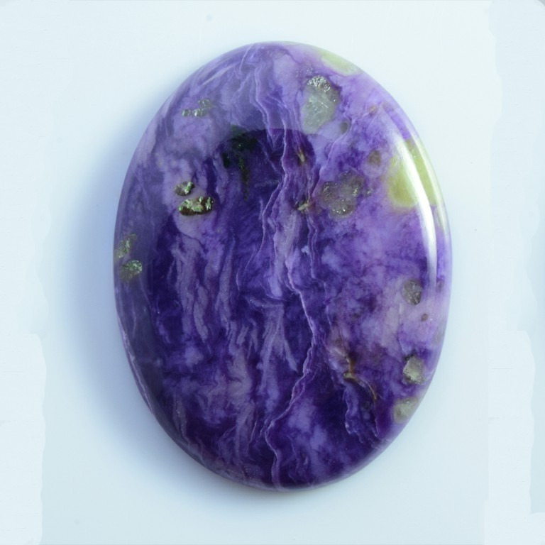 Buy Natural Charoite Semi Precious Loose Gemstone Oval shape Cabuchions