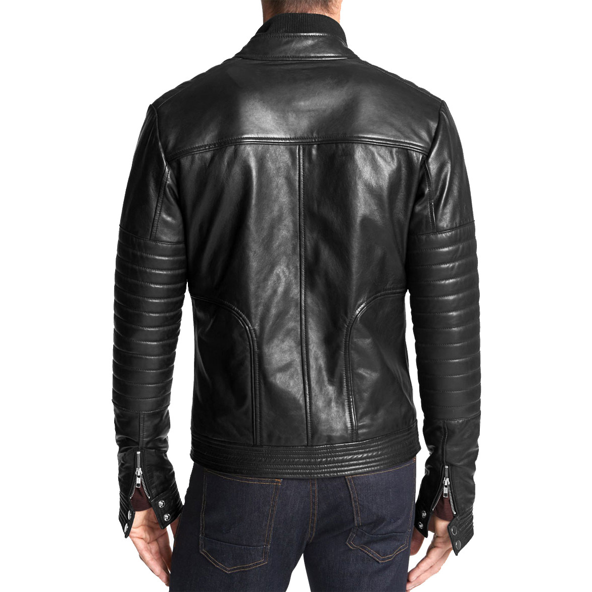 Trendtales Mens Leather Jacket Lambskin Leather Jacket (Size:XS)