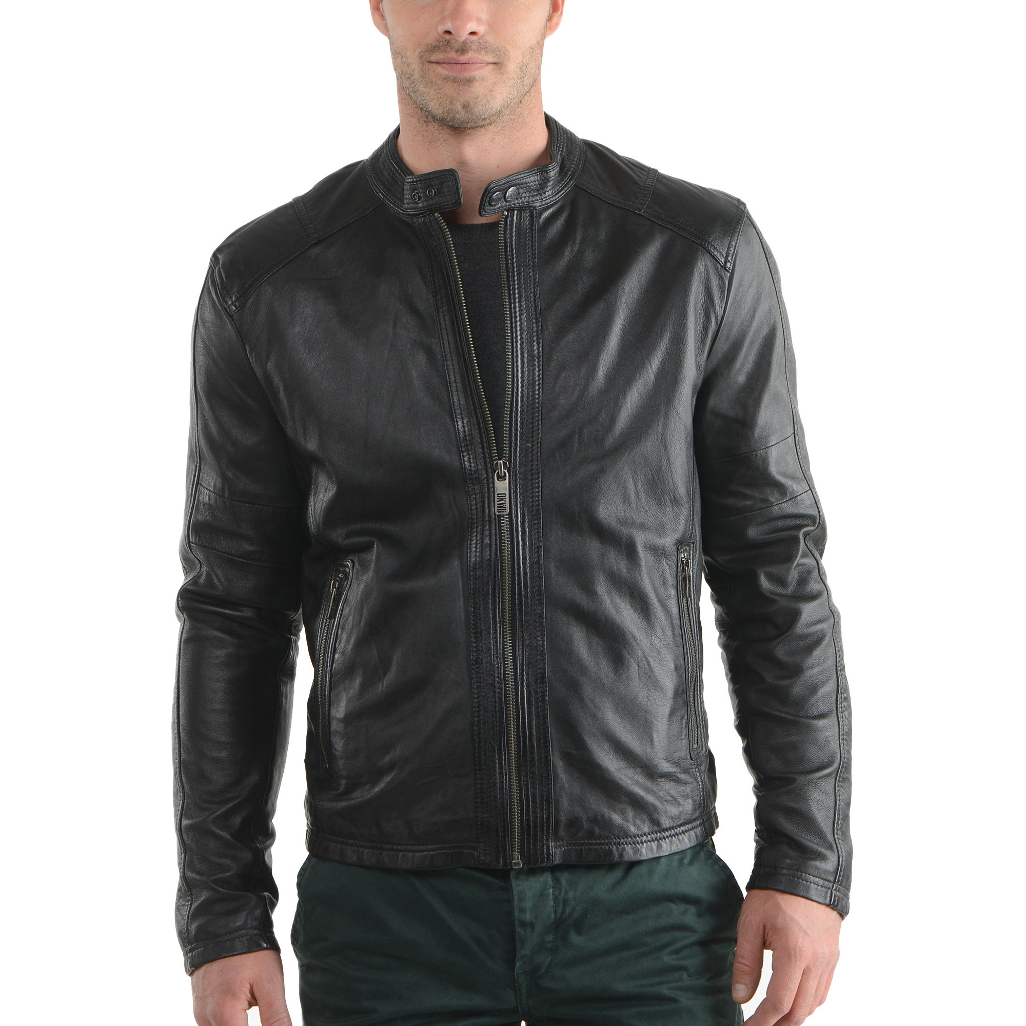 Trendtales Mens Leather Jacket Lambskin Leather Jacket for men (Size:3XL)