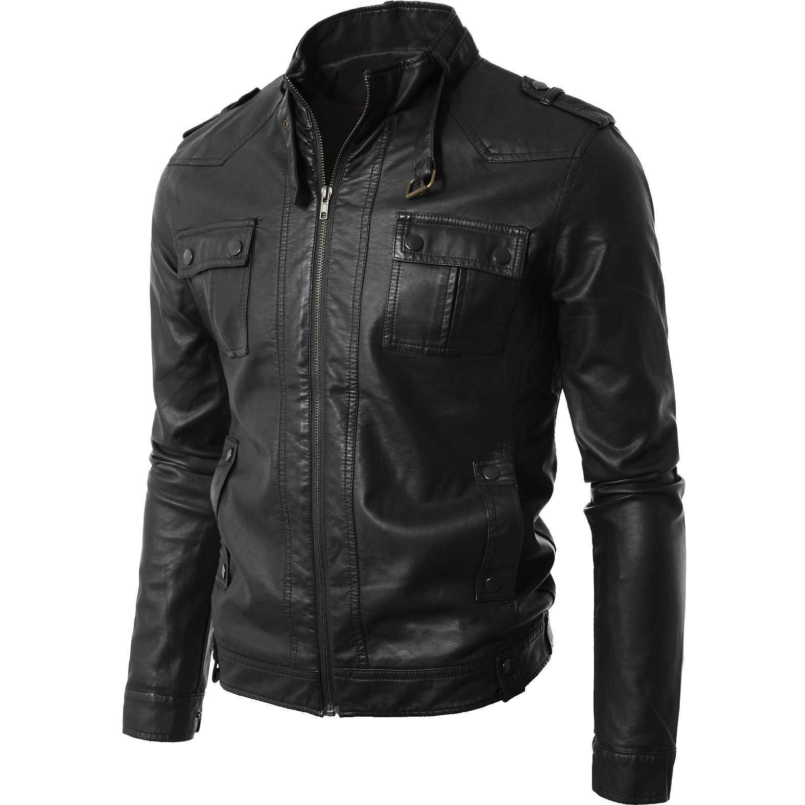 Trendtales Mens Leather Jacket Lambskin Leather Jacket for men (Size:XS)