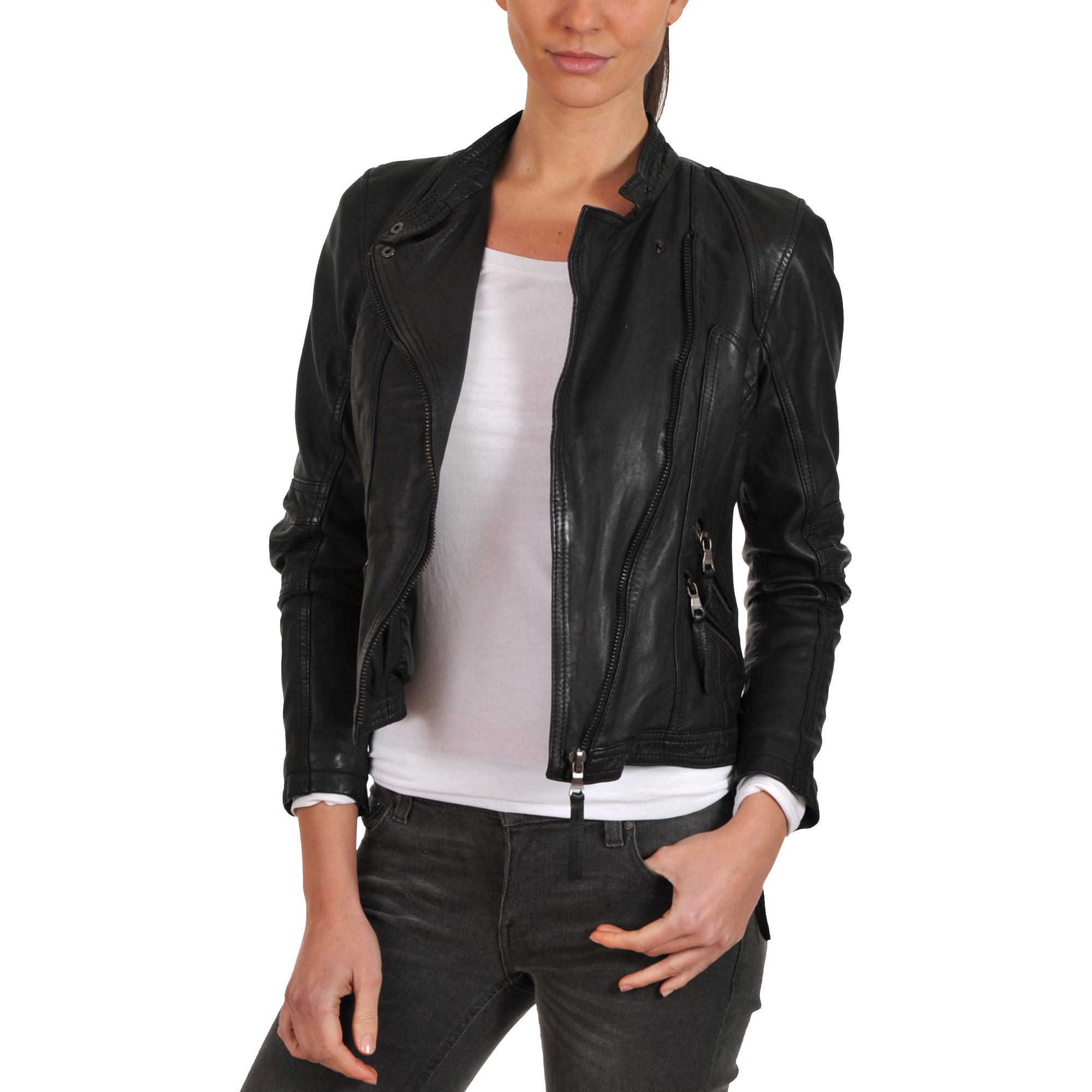 Trendtales womens leather jacket lambskin leather jacket for women (Size:XS)