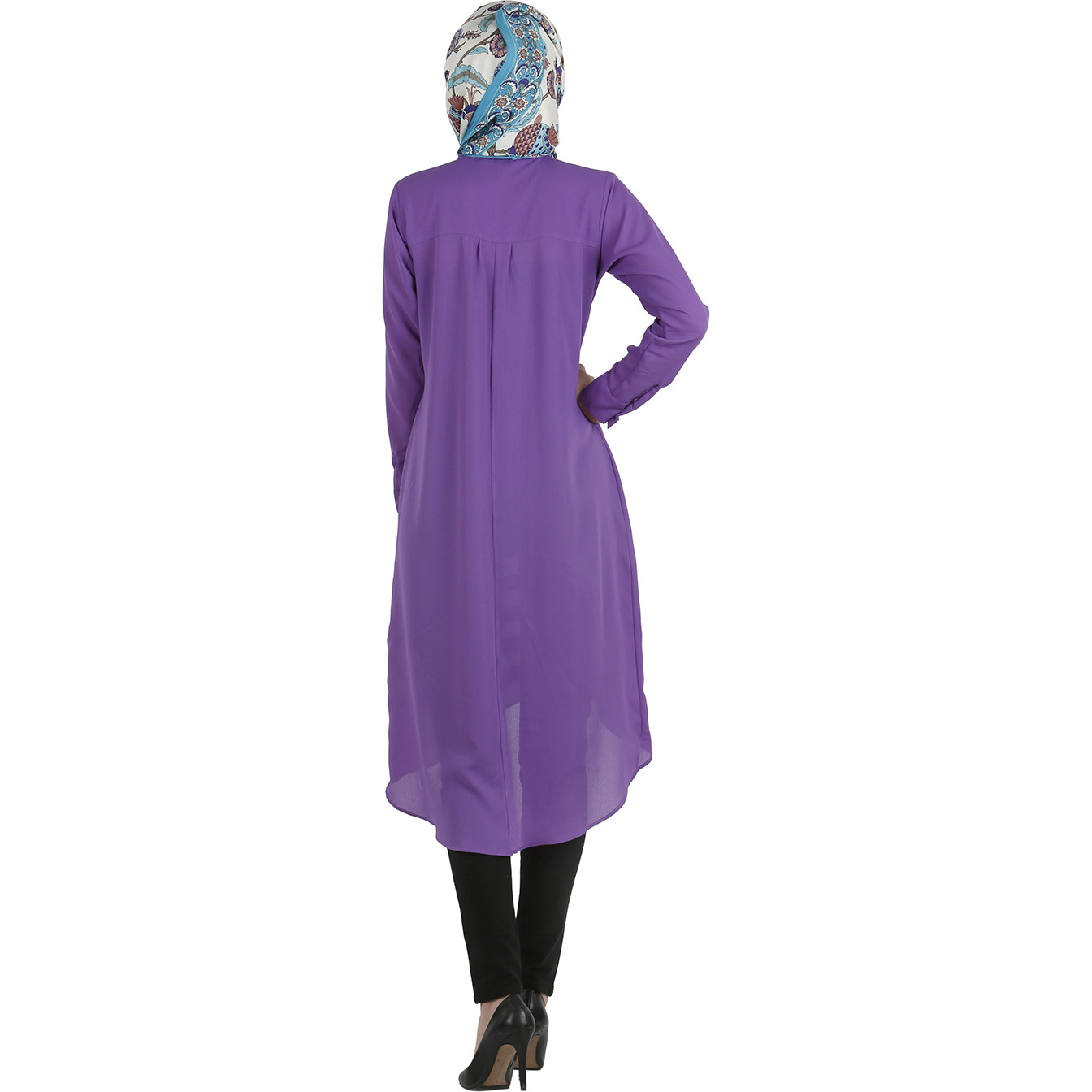 Modest Forever Half pleated tunic dress (Size: M)