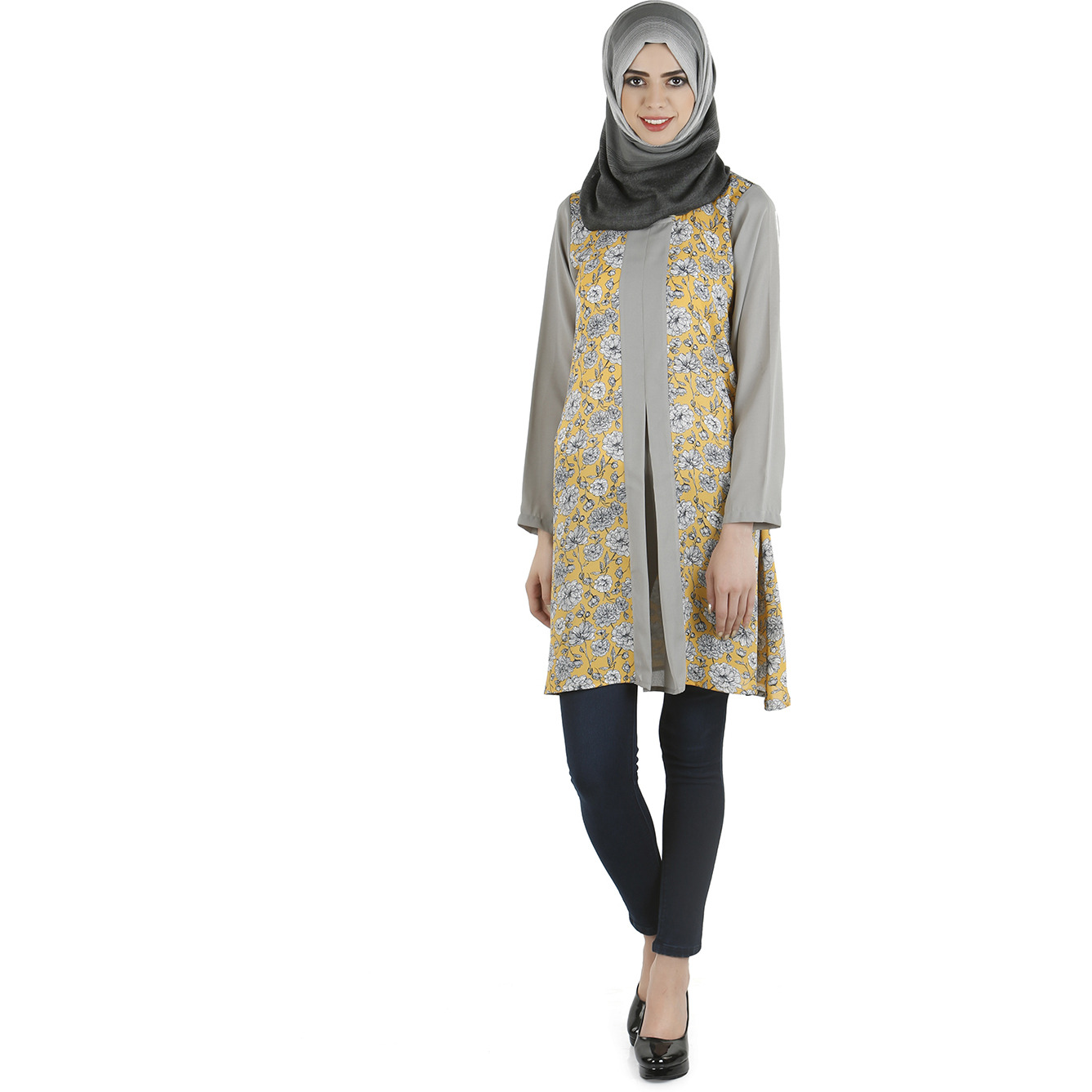 Modest Forever Exclusive panel and print tunic (Size:L)