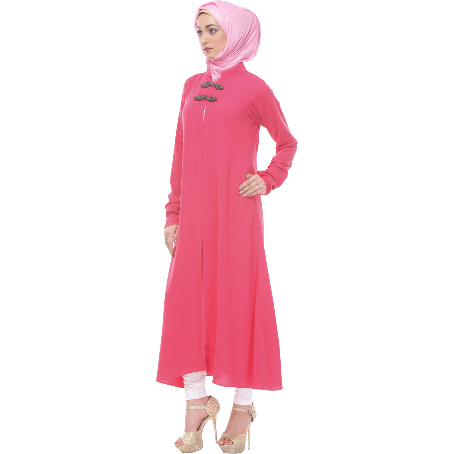 Modest Forever Double-layered Pink Maxi Tunic (Size: M)