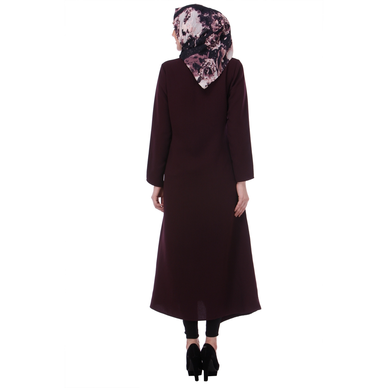 Modest Forever Purple Button-down Abaya (Size:M)