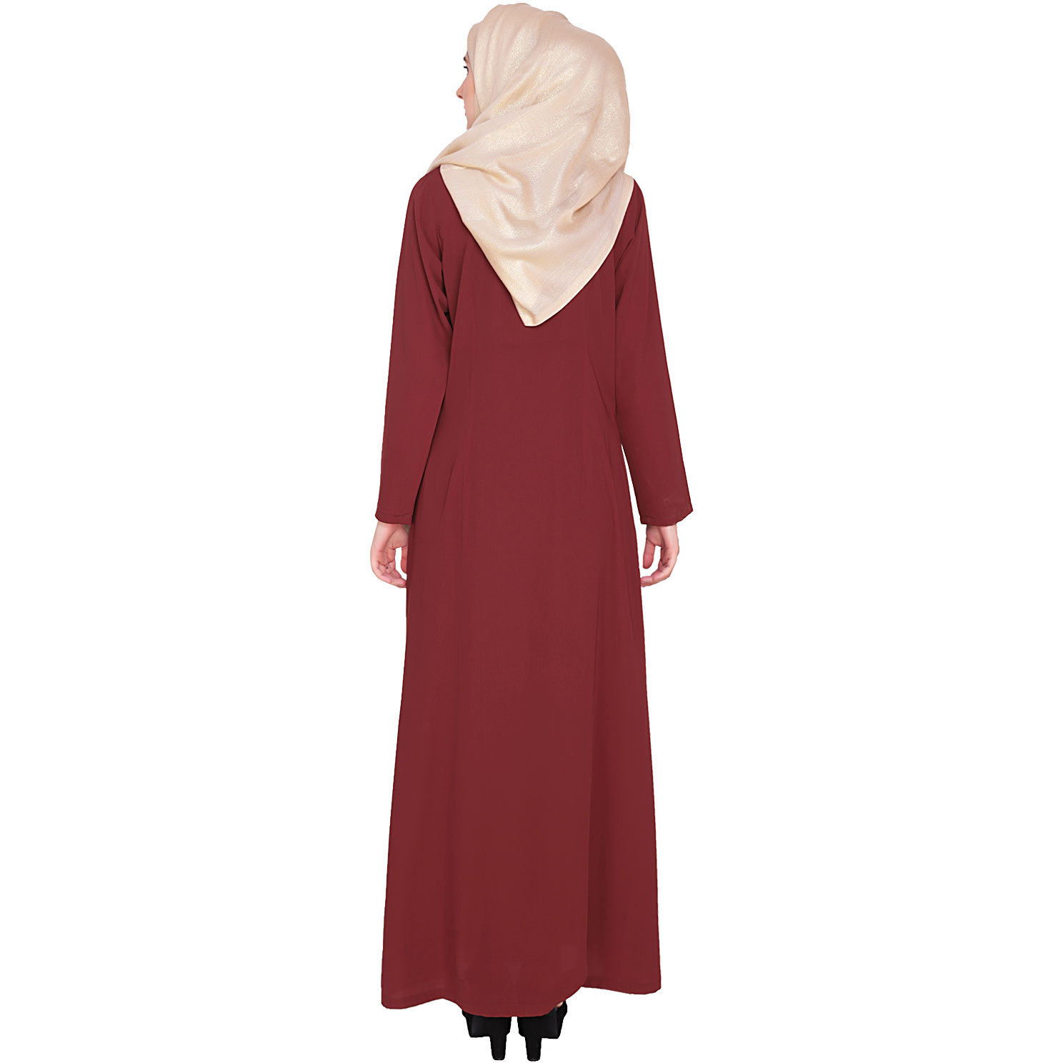Modest Forever Classic Wine Abbaya (Size: M)