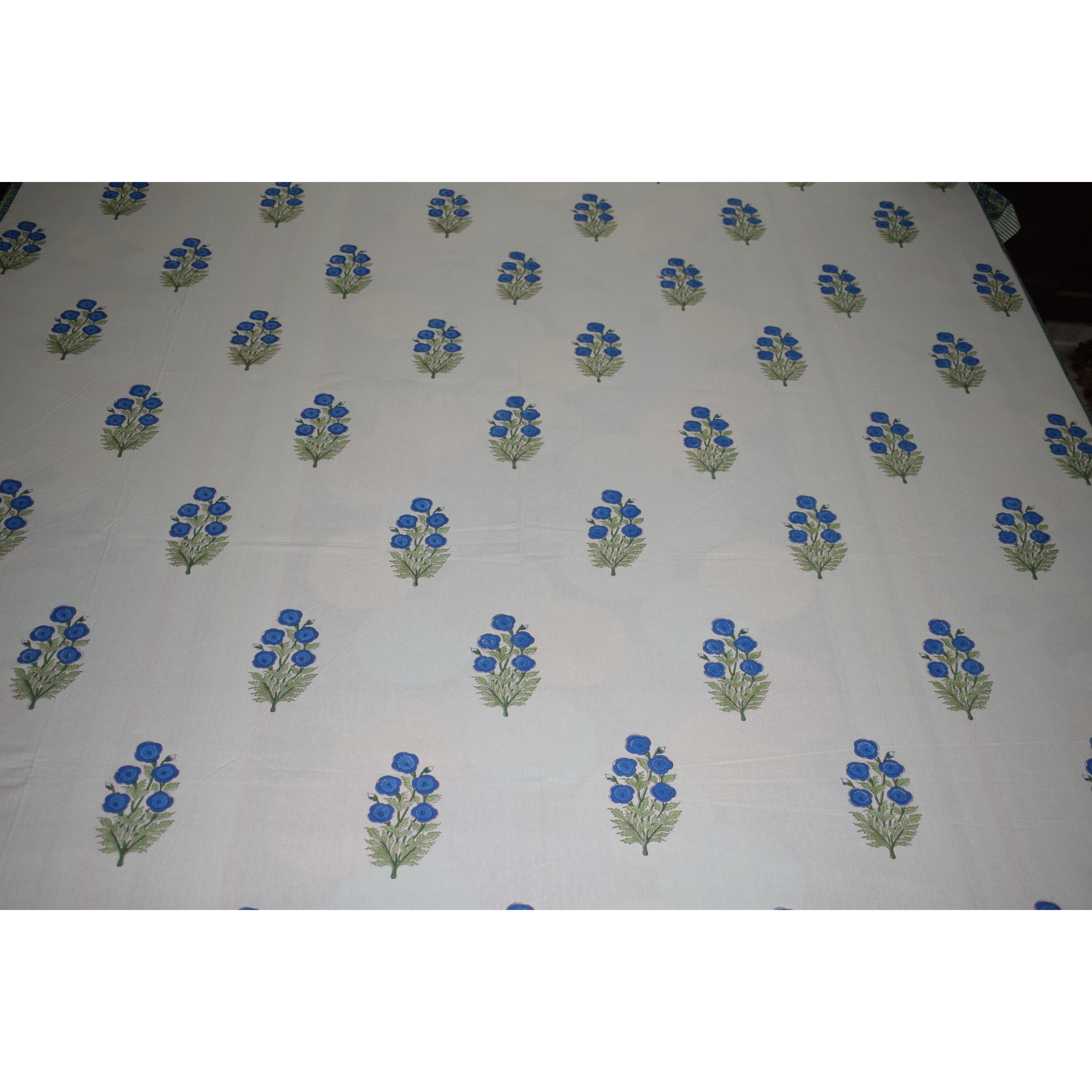 Organic White King Size Cotton Double Bedsheet
