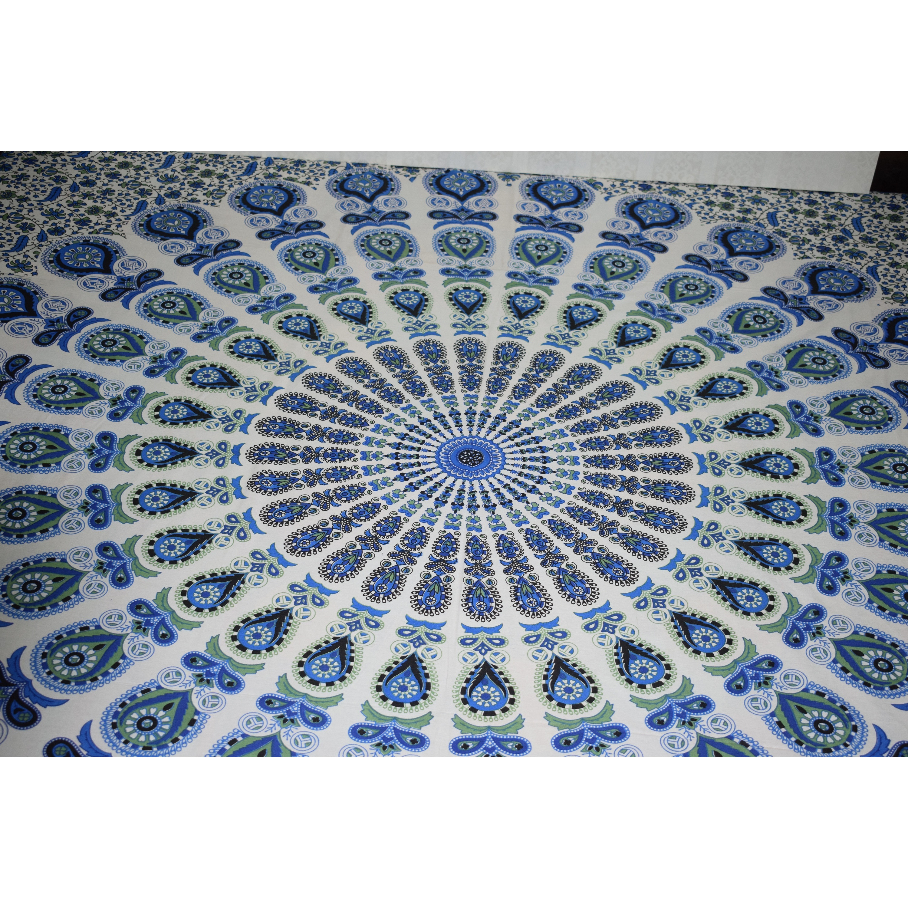 Double Bedsheet Cotton Queen Size Indian Mandala Tapestry Wall Hanging Home Decor