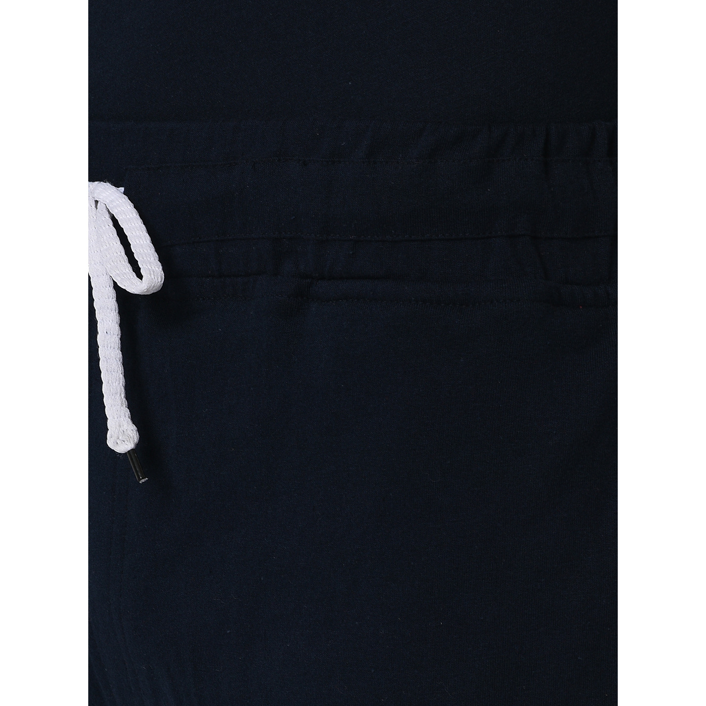 Rigo Navy Tape Detailing Knitted Shorts For Men (Size: 30)