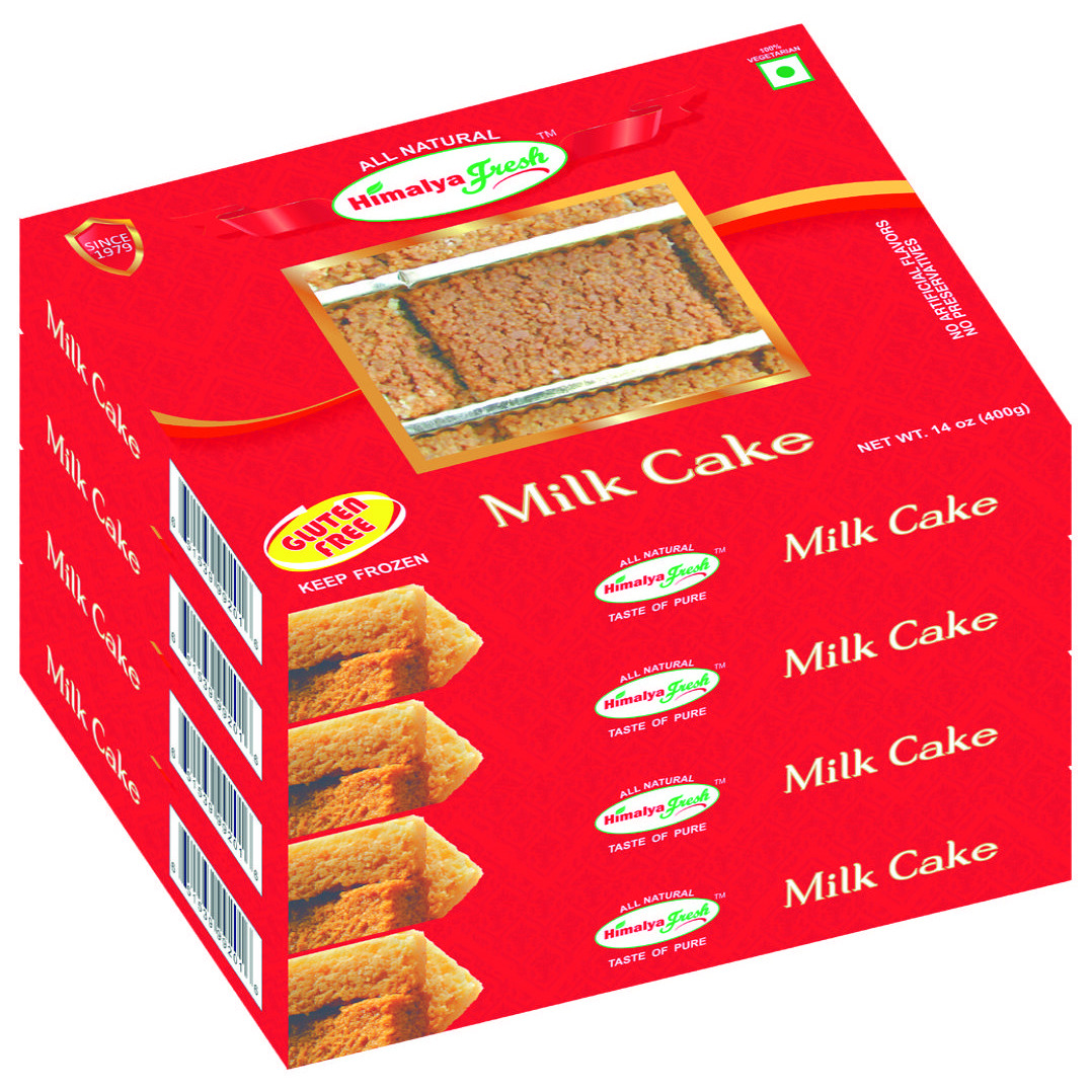 Himalya Fresh Milk Cake 14 Oz - Premium Authentic, Luxurious Sweet Made With Pure Grass Fed Water Buffalo Milk And Sugar (Just Two Ingredients) - No Fillers Or Preservatives (4 Boxes)