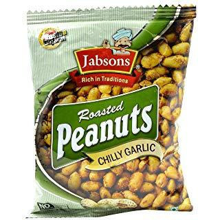 Jabsons Roasted Peanuts Chilly Garlic - 140 Gm