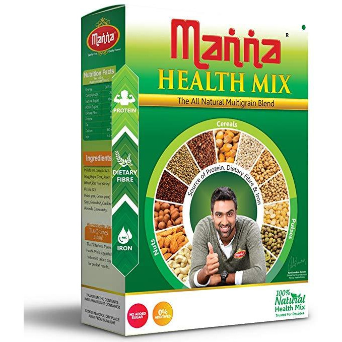 Manna Health Mix Nut And Grain Mix - 500 Gm [Get Free Vadilal Badam Drink]