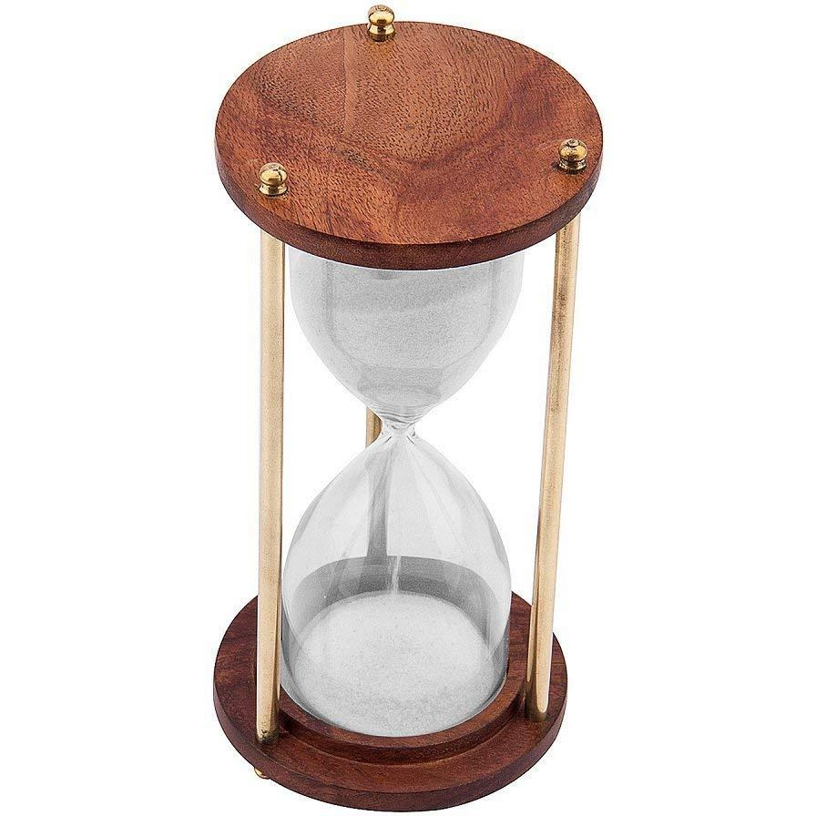S& Timer Hour Glass &Glass S& Clock Height 6 Ines 5 Minutes