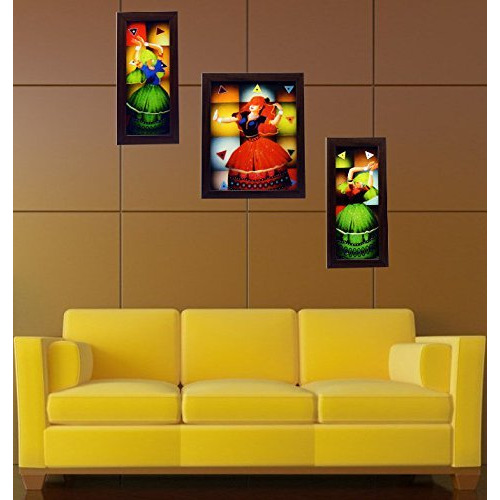3 Piece Set Of Framed Wall Hanging Art|Wall Painting|Wall Decoration|Diwali Gifts|Christmas Gifts
