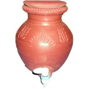 Natural Brown Earthen / Clay Pot Matka With Tap