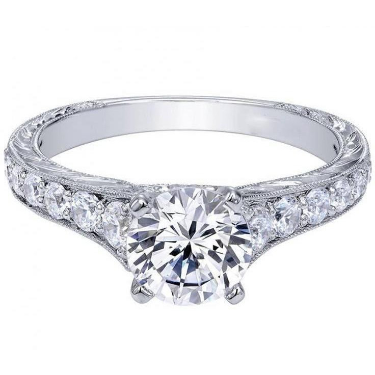 1.50 Beautiful Stimulated Diamond Wedding Engagement Ring with Charm & Elegence (Size: SIZE_10)