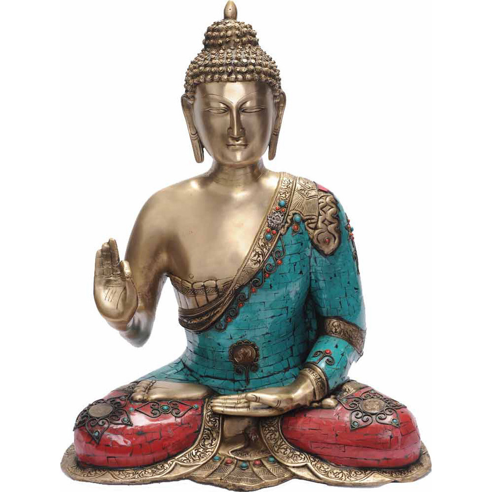 Bronze buddha statue metal brass big outdoor garden dicor old sculpture 23