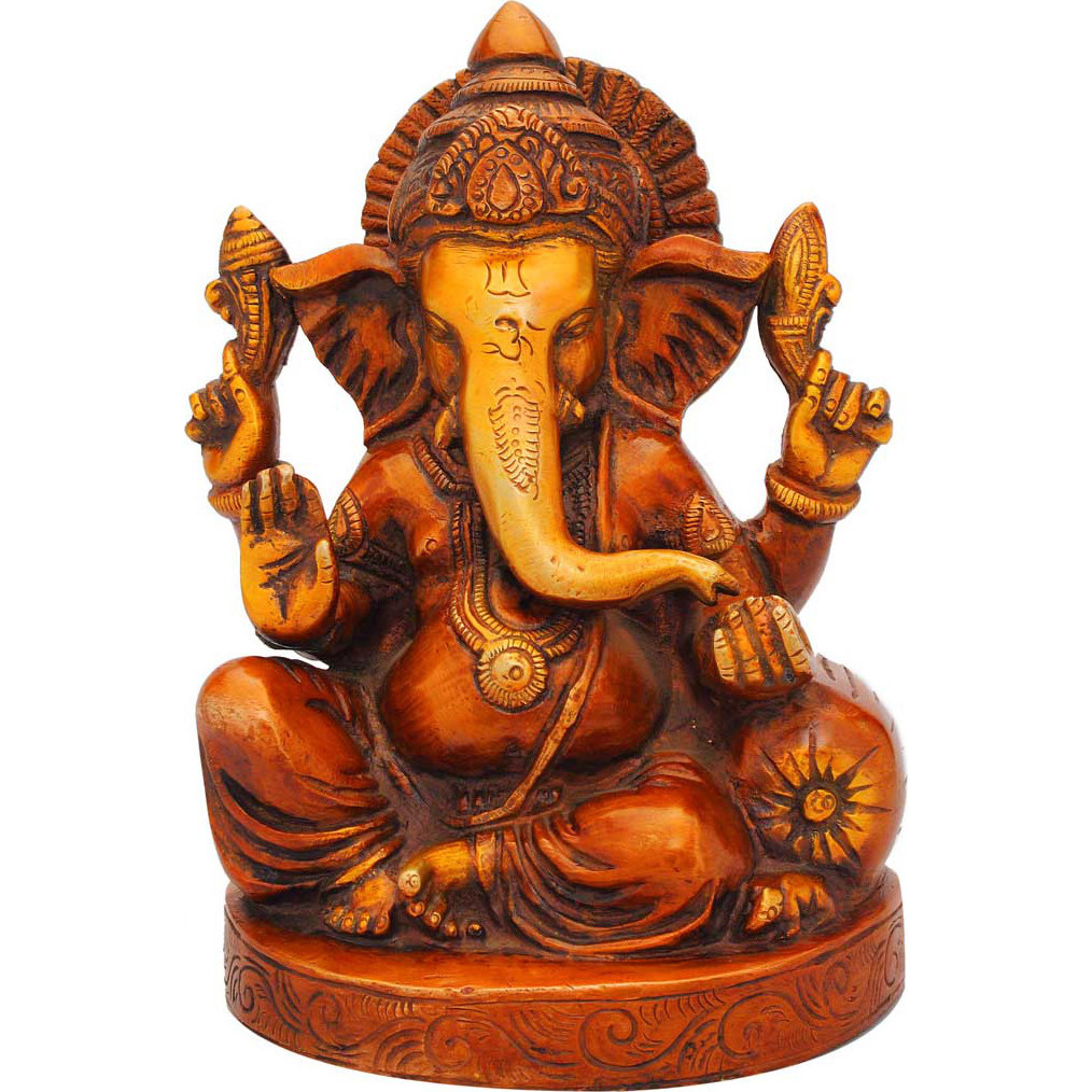 Ganeshji statue sitting with couch on one side idol figure religious dicor 7