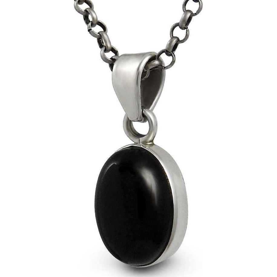 Best Design Black Onyx Gemstone Silver Jewelry Pendant