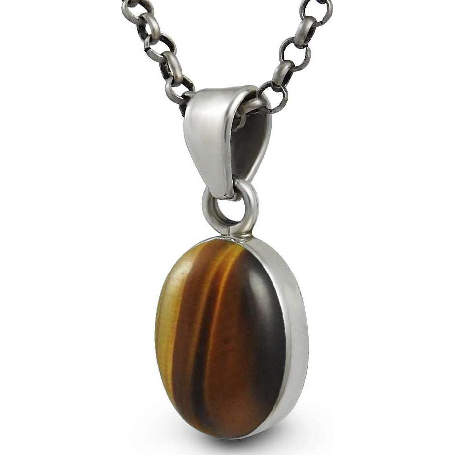 Big Awesome Tiger Eye Gemstone Silver Jewelry Pendant