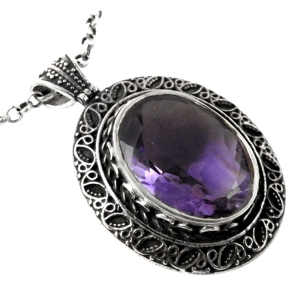 Classy!! Amethyst 925 Sterling Silver Pendant