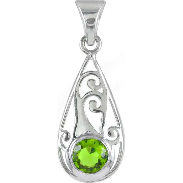 925 Sterling Silver Jewelry !! Daily Wear Glass Gemstone Silver Jewelry Pendant