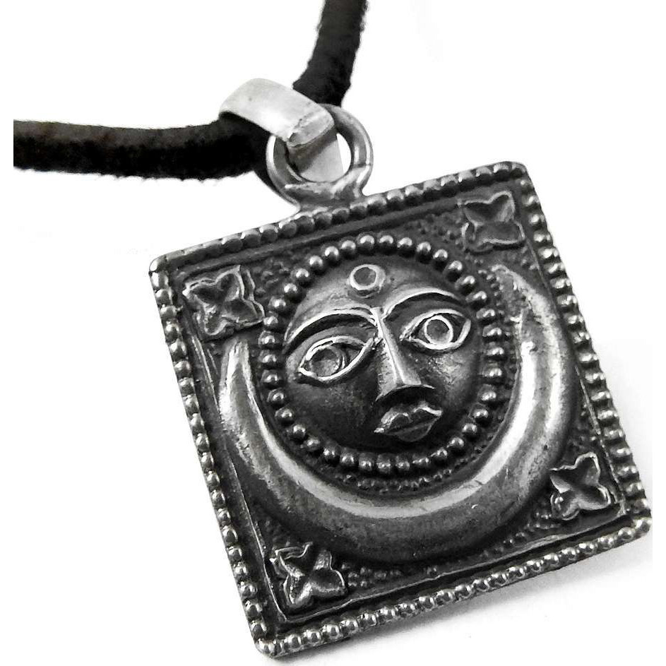 Sun and Moon !! 925 Sterling Silver Pendant