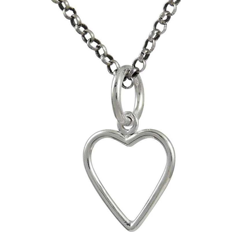 Charming 925 Sterling Silver Jewelry Heart Pendant